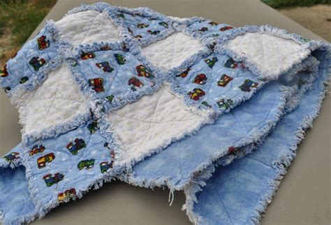 Baby Rag Quilt Patterns by You To See Blue And White Baby Boy Rag Quilt By