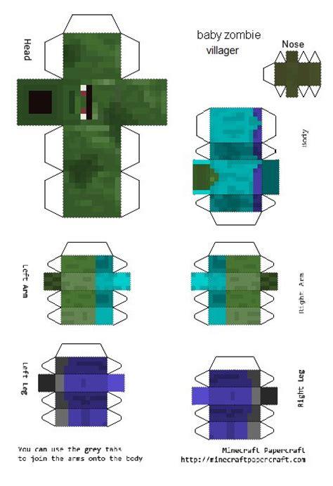 Minecraft Papercraft Villager - papercraft baby villager minecraft