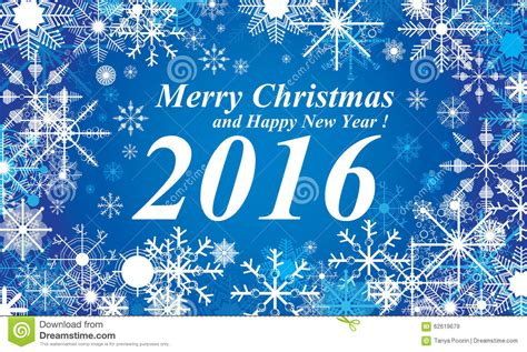 happy new year 2016 and merry christmas images snow merry christmas and happy new year 2016 blue