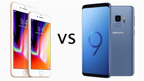 iphone v s samsung s9 samsung galaxy s9 vs iphone 8 comparison review tech advisor