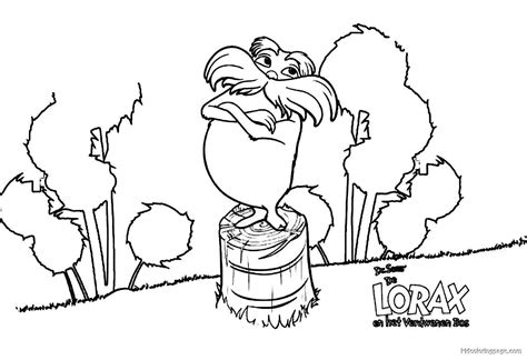 lorax coloring pages lorax coloring page coloring home