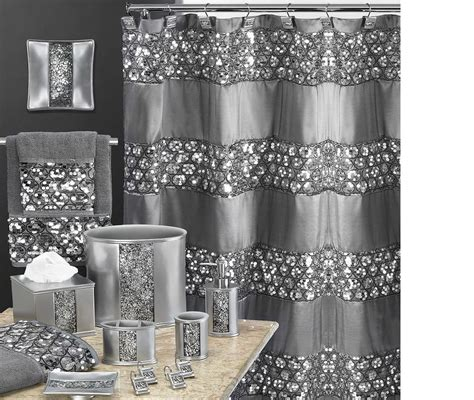 next silver sequin curtains sinatra fancy fabric shower curtain sequin border in