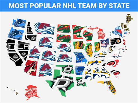 nhl map map the most popular nhl team in every state business insider deutschland