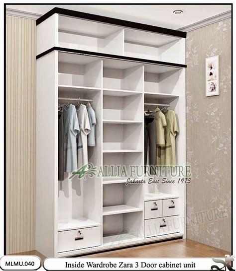 Lemari Pakaian Knockdown lemari pakaian sliding minimalis unit zara allia furniture