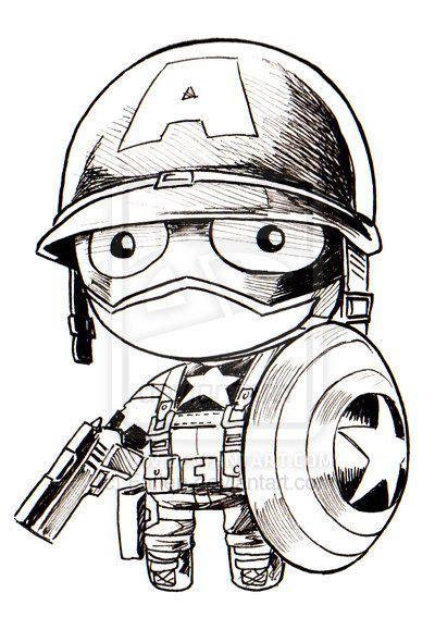 captain america chibi tattoos pinterest capt america