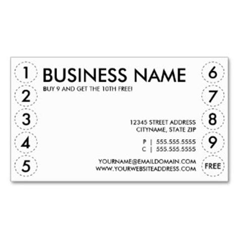 punch card business card template 8 best images of punch card printable template free