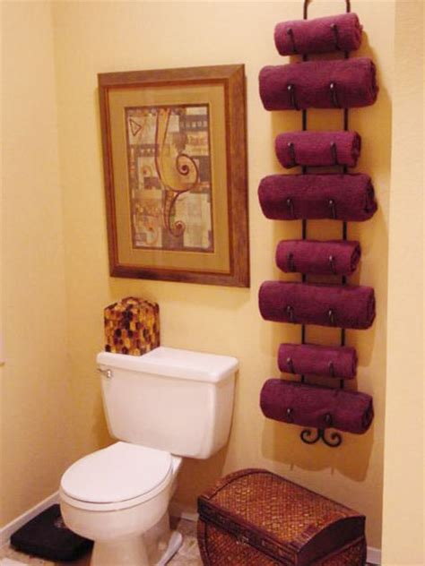 bathroom towel rack ideas bathroom towel storage 12 creative inexpensive ideas