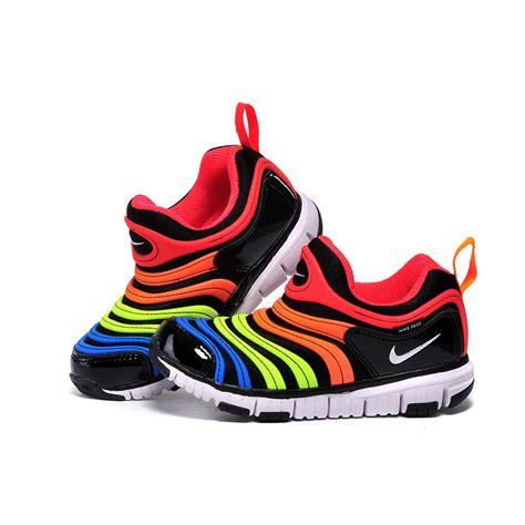 nike big kid shoes nike dynamo free big shoes rainbow color