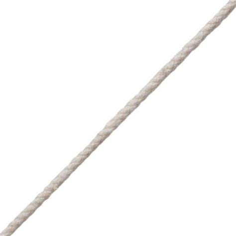 1 8 in x 45 ft white braid cotton and poly cord