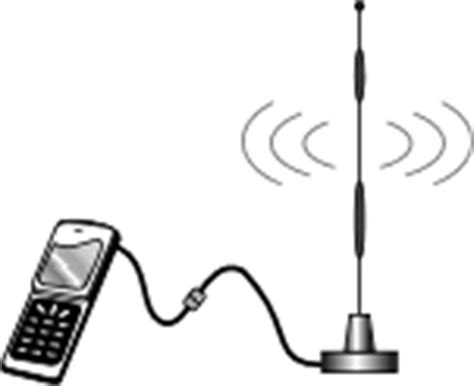antenna adapters for wireless cell phones allows connection of external antennas