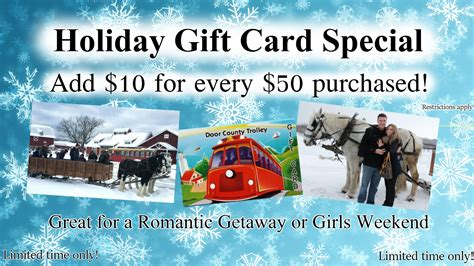 Door County Gift Cards - home door county trolley