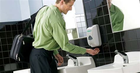 men using the bathroom hand washing hand hygiene facility services unifirst canada