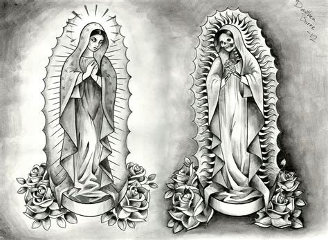 santa muerte tattoo design dorothea barre idea tattoomagz