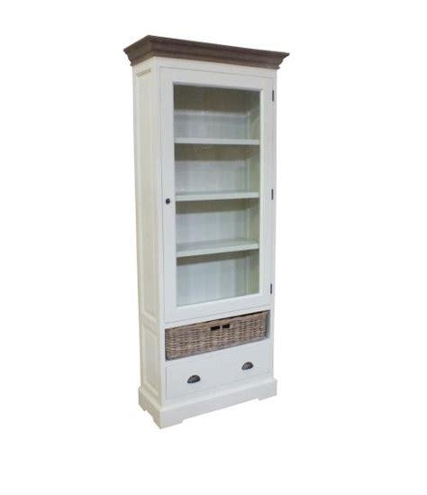 witte boekenkast witte boekenkast met glasdeur en teak top het teakmagazijn