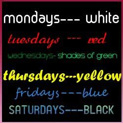 which day is today according to week m 165 p c what color to wear according to the day of week