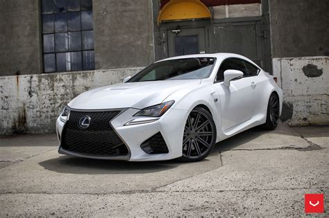 lexus white white lexus rcf on vossen wheels has the look of a cult