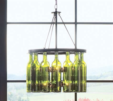 pottery barn wine glass chandelier junk with funk wine bottle chandeliers centerpieces