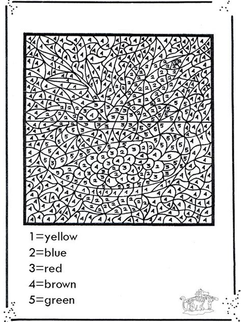 pages difficult difficult color by number printables az coloring pages