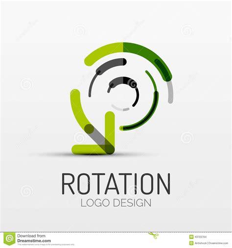 icon design company rotation arrow company logo business concept stock
