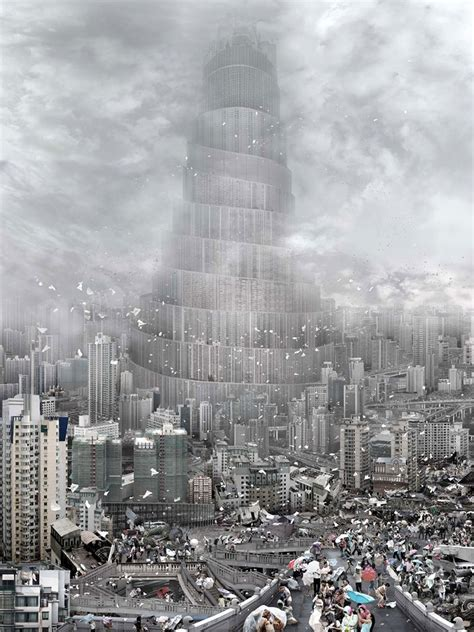 babel a blog of modern architecture the tower of babel photo manipulations by du zhenjun