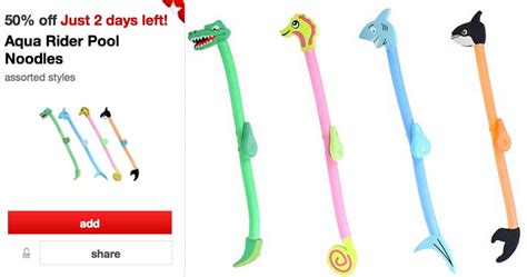 50 off aqua rider pool noodles cartwheel offer