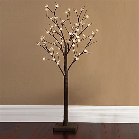 lighted trees home decor buy plug in 4 foot led lighted cherry blossom tree from