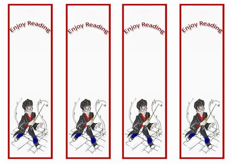 free printable hockey bookmarks harry potter birthday printable