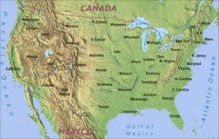 america mountains map geography physical map of the united states of america