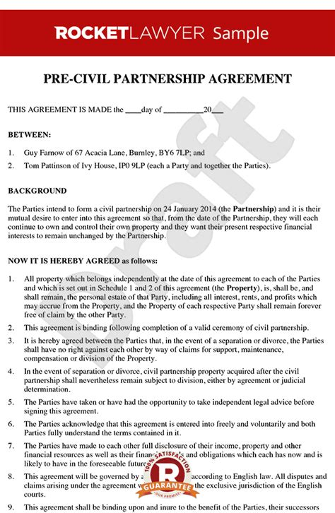separation agreement template ireland free prenuptial prenup agreement template