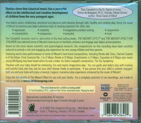 Cd The Mozart Effect For Babies Vol2 the mozart effect for babies vol 3 cd