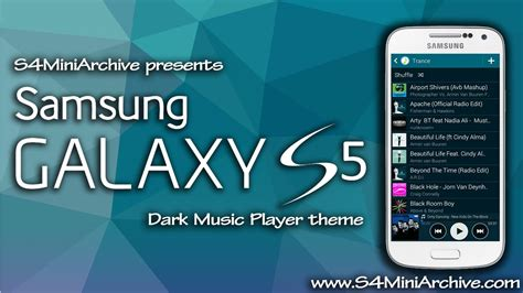 themes samsung mini kitkat dark galaxy s5 music player theme for galaxy s4