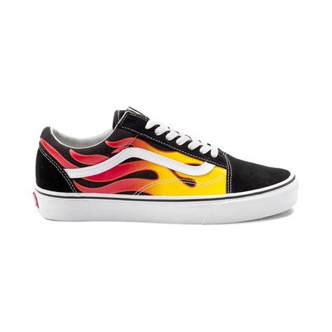 Vans Oldskul vans skool flames skate shoe black 497143