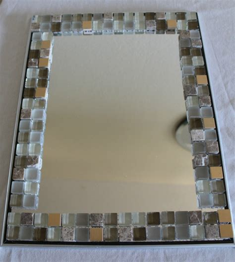 How To Decorate A Mirror Without A Frame by Glass Mosaic Tile Mirror Frame Home Decor All Crafts