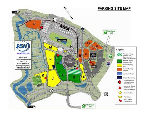 metlife stadium parking map stadium parking lot map images