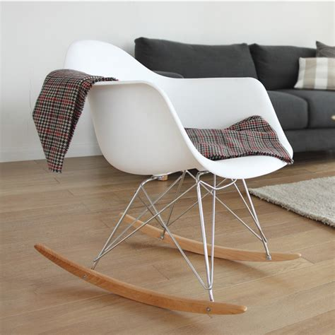 Sofa Rocking Chair Eames Schommelstoel Rar Chroom Frame Schommelstoel