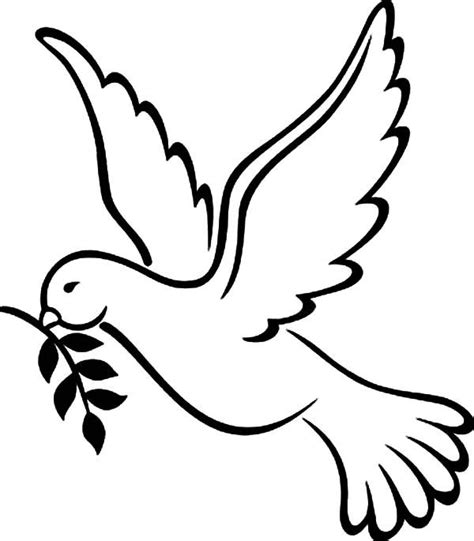 coloring pages dove bird peace coloring home