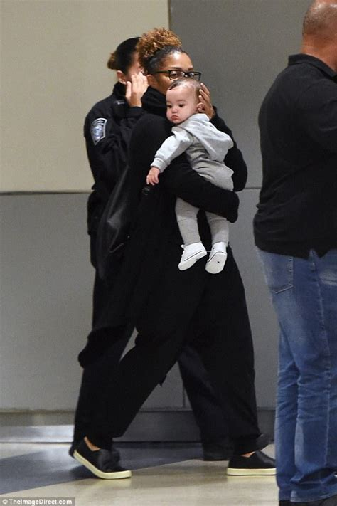 Still Going Strong Despite Baby Drama by Janet Jackson Takes Baby Eissa To New York Daily Mail