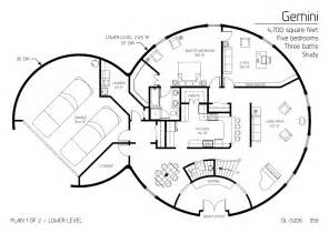 Dome Home Floor Plans Floor Plan Dl 5206 Monolithic Dome Institute