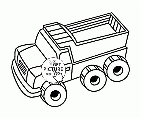 Simple Dump Truck Coloring Pages by Simple Dump Truck Coloring Page For Toddlers