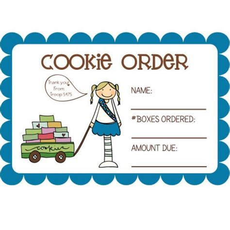 scout cookie sales receipt template 19 best booth sale images on cookie time gs