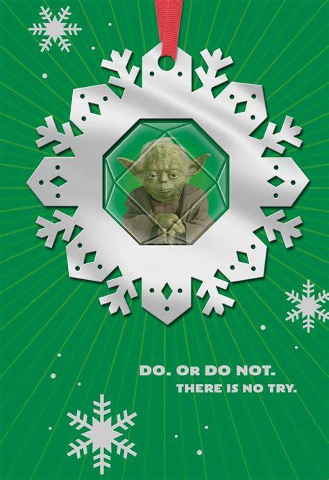 star wars yoda christmas card  ornament greeting