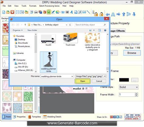 Drpu Wedding Card Designer Software by Screenshots Of Wedding Card Designer Software Generate