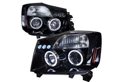 2004 nissan titan headlights spec d tuning 174 nissan titan 2004 2007 led halo black