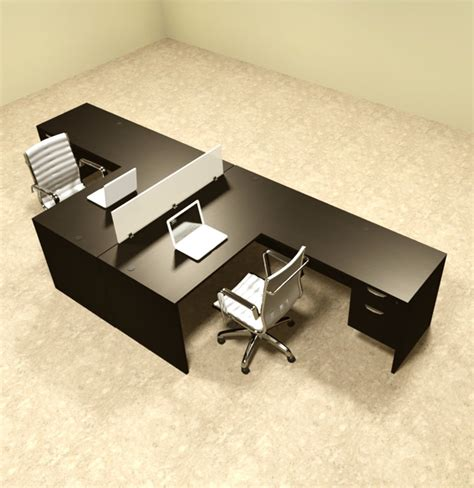 2 Person L Shaped Desk Two Person L Shaped Divider Office Workstation Desk Set Ot Sul Fp40