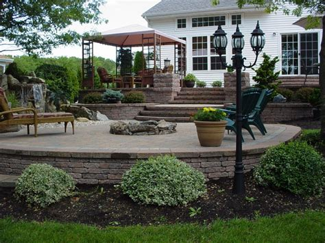 two level backyard landscaping ideas retaining wall contractor peter anthony landscaping