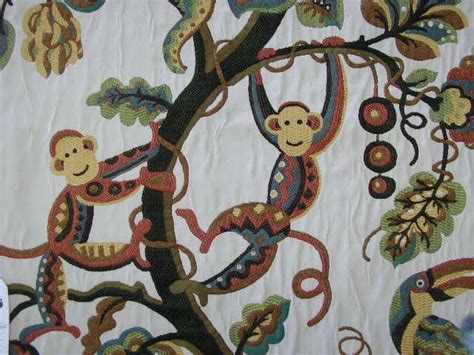 Monkey Upholstery Fabric by Monkeys Jungle More Fabrics Monkey Fabrics Jungle