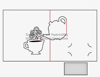 s day card cup template teapot and cup pop up card