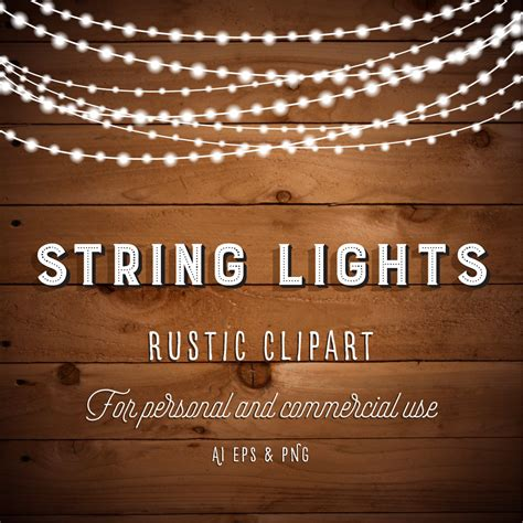 rustic string lights string lights clipart lights clipart