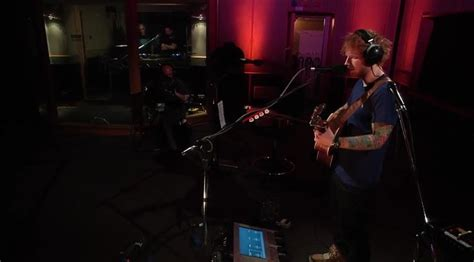 ed sheeran zane lowe ed sheeran performs x tracks acoustically on bbc radio 1