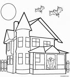 Coloring Page Up House by Printable Haunted House Coloring Pages For Cool2bkids